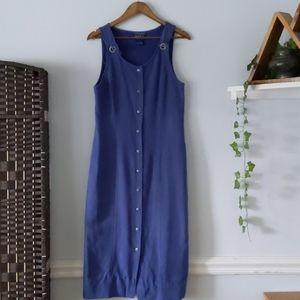 Vintage Blue J Overall Dress